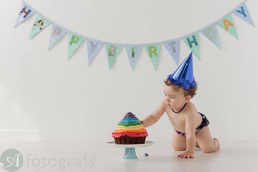Edinburgh baby photography cake smash
