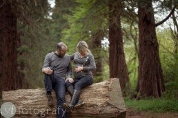 Outdoors pregnancy photos with Bailie family and Dougal 2