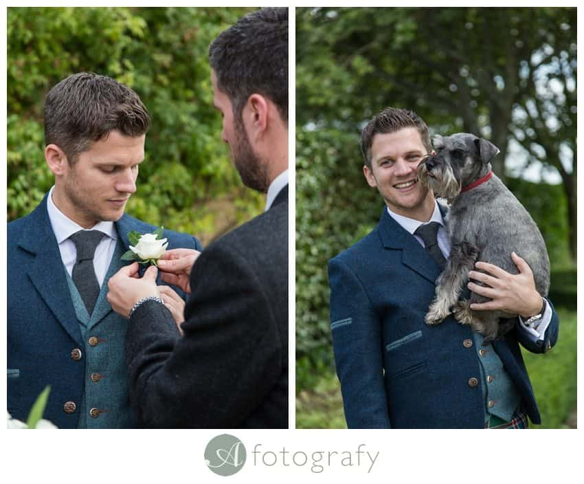 Edinburgh Greywalls wedding groom 6