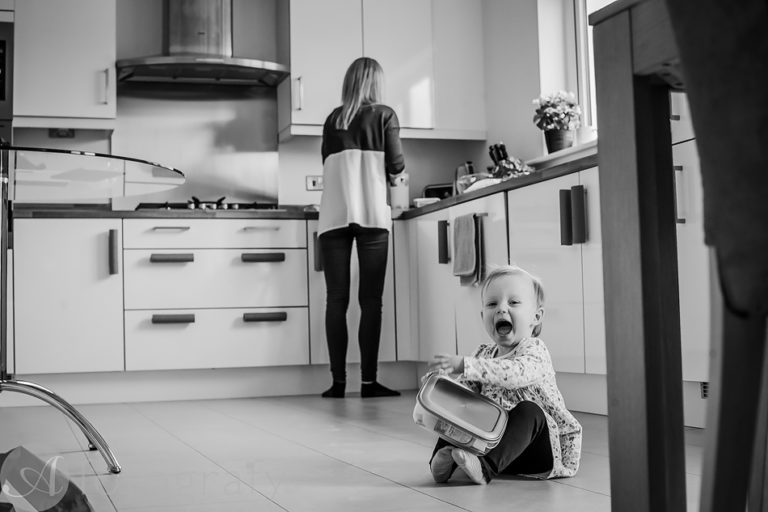 Natural black and white family portraits 16