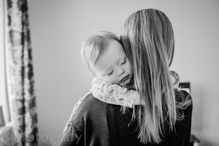 Natural black and white family portraits 30