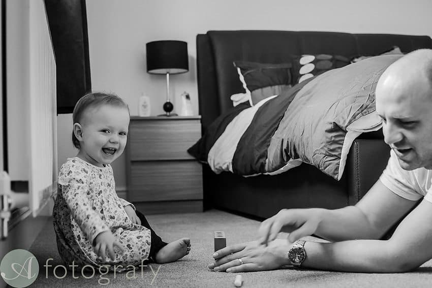 children and dad portraits