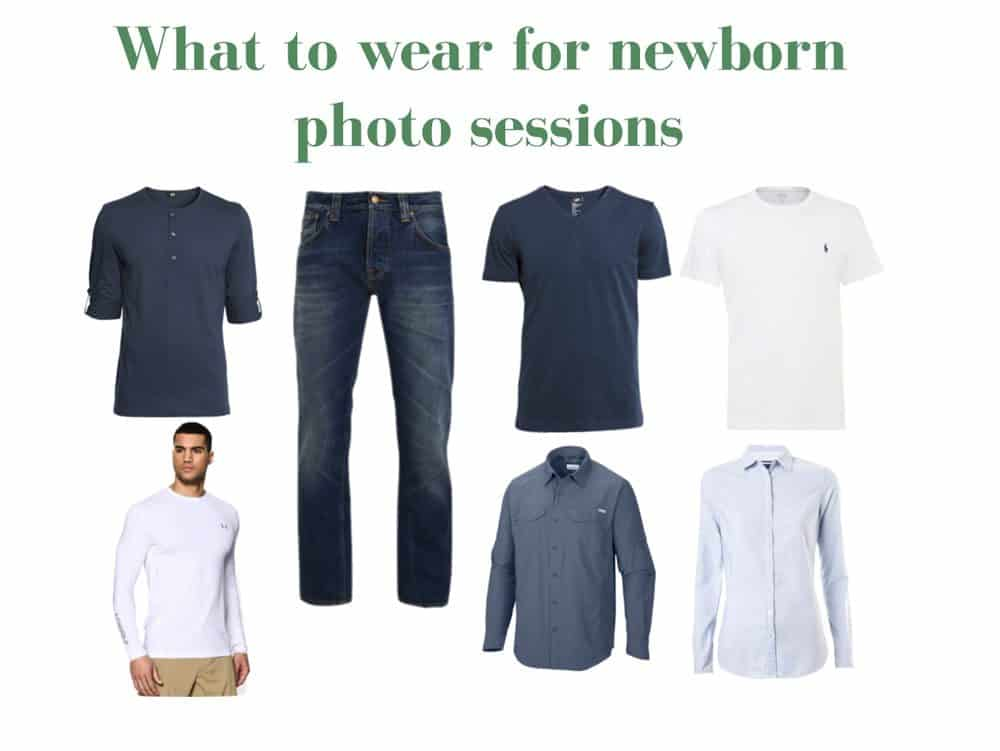 what to wear fro dads during the newborn photo sessions