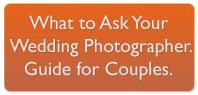 What to ask wedding photographer guide for couples