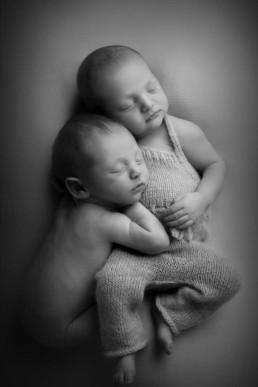 newborn twins during photography photo shoot in Edinburgh