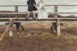 wedding photography ideas with wedding couple on bridges