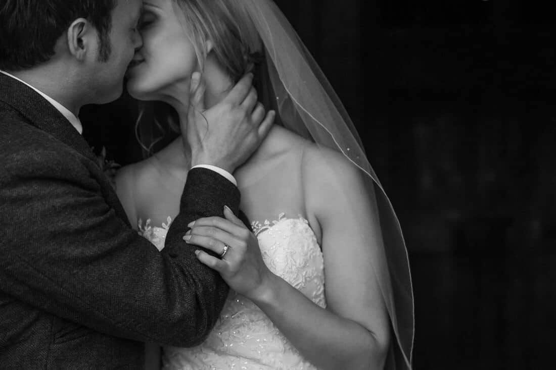 Edinburgh wedding photography bride and groom kissing poses