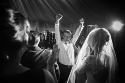 bride and dad during wedding dancing