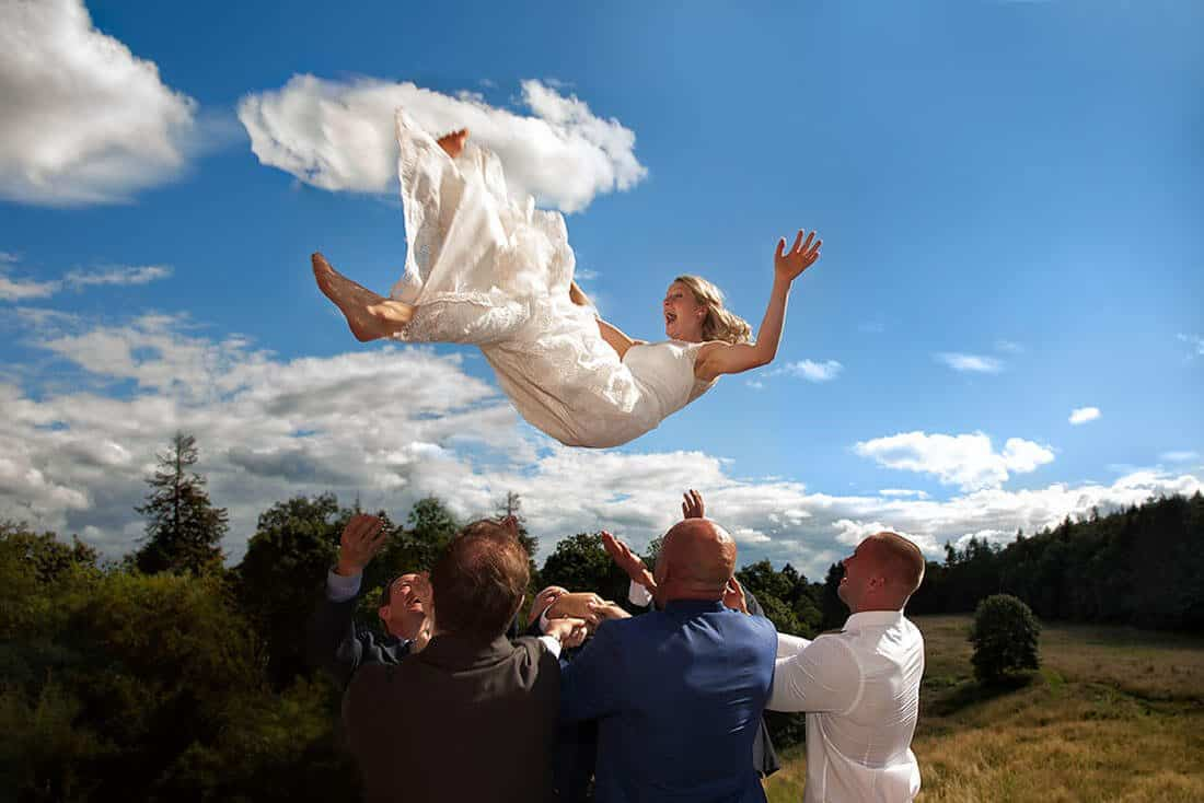 creative wedding photography in Edinburgh