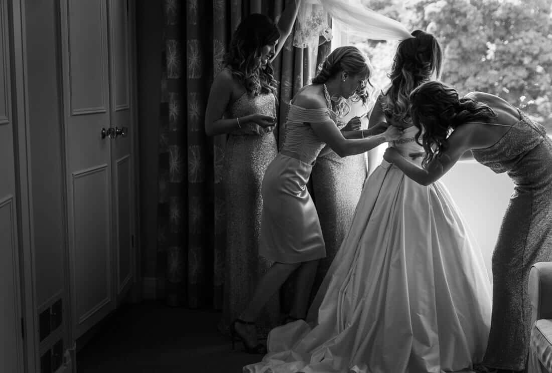 Edinburgh wedding photography getting ready