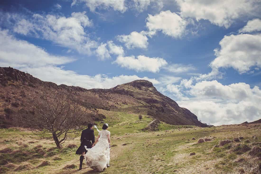Edinburgh arthur seat wedding photo