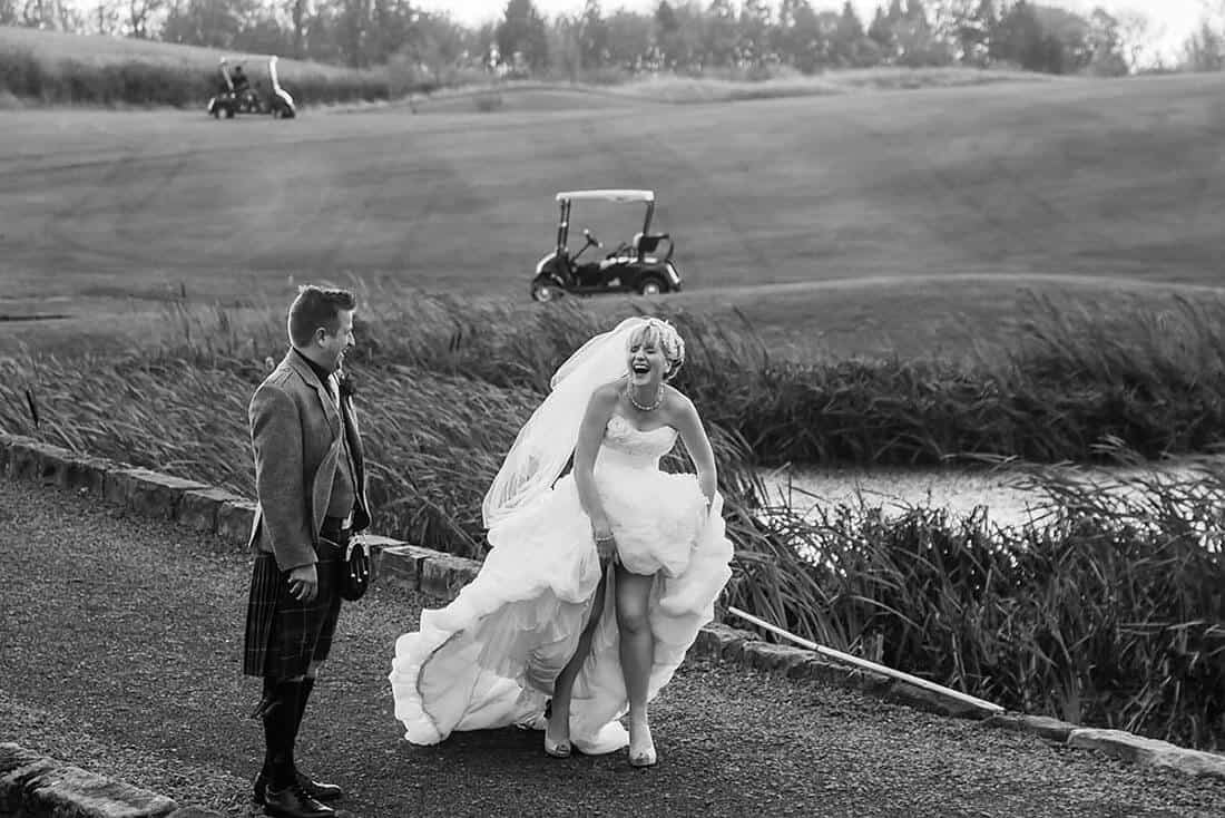 edinburgh wedding photography funny couple