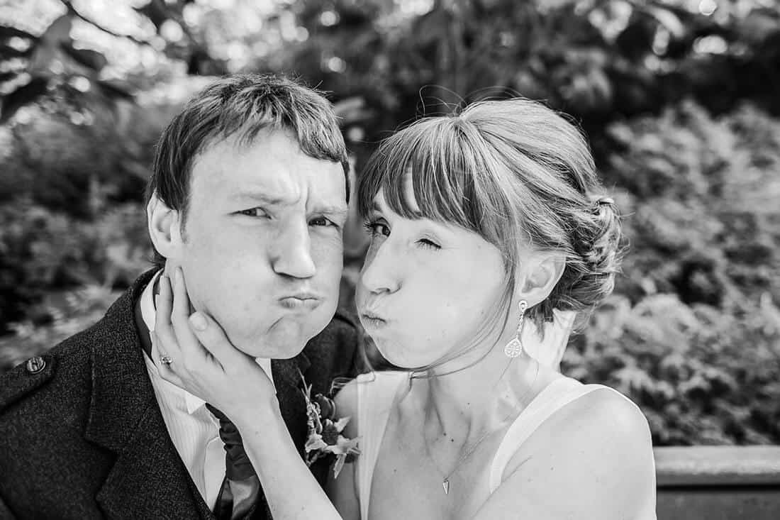 Fun edinburgh wedding photographers