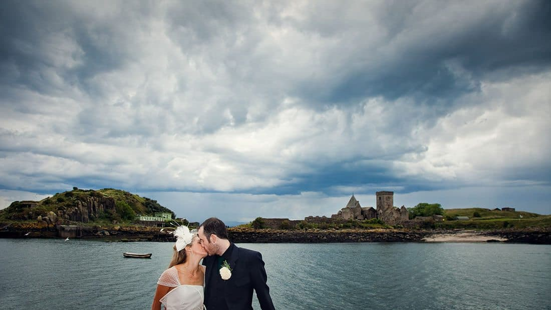 Inchcolm island wedding photographers.