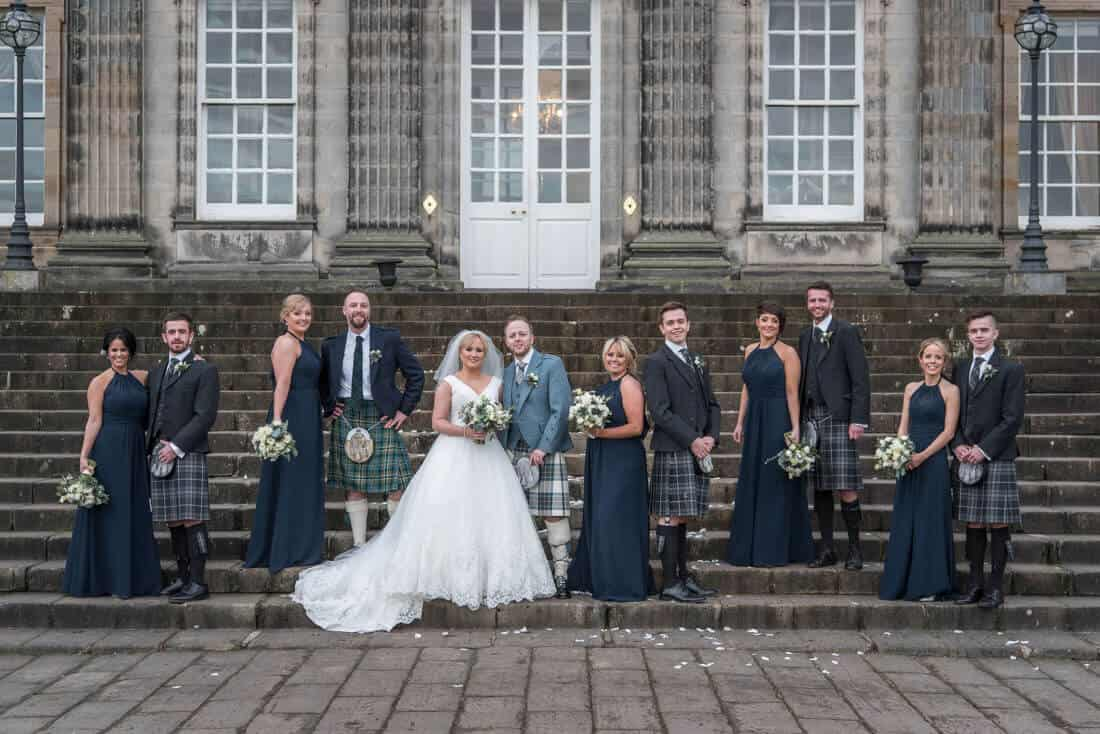 hopetoun house wedding photos
