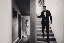 bride and groom creative photo