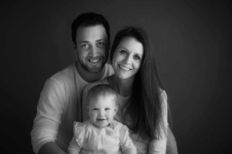 black and white classic family photos in Edinburgh studio