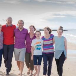 family photography on the beach in Edinburgh