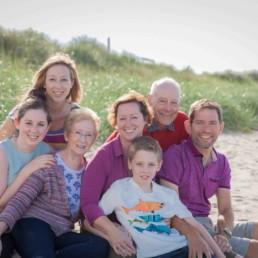 family portrait on the beach near Edinburgh