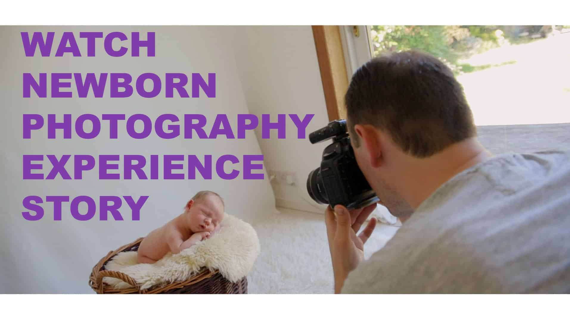 watch video of newborn baby photography photoshoot in Edinburgh