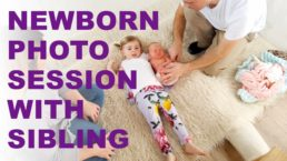 Edinburgh newborn photographer shows how to create baby and sibling photos in video