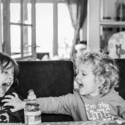 candin kids portrait while having fun