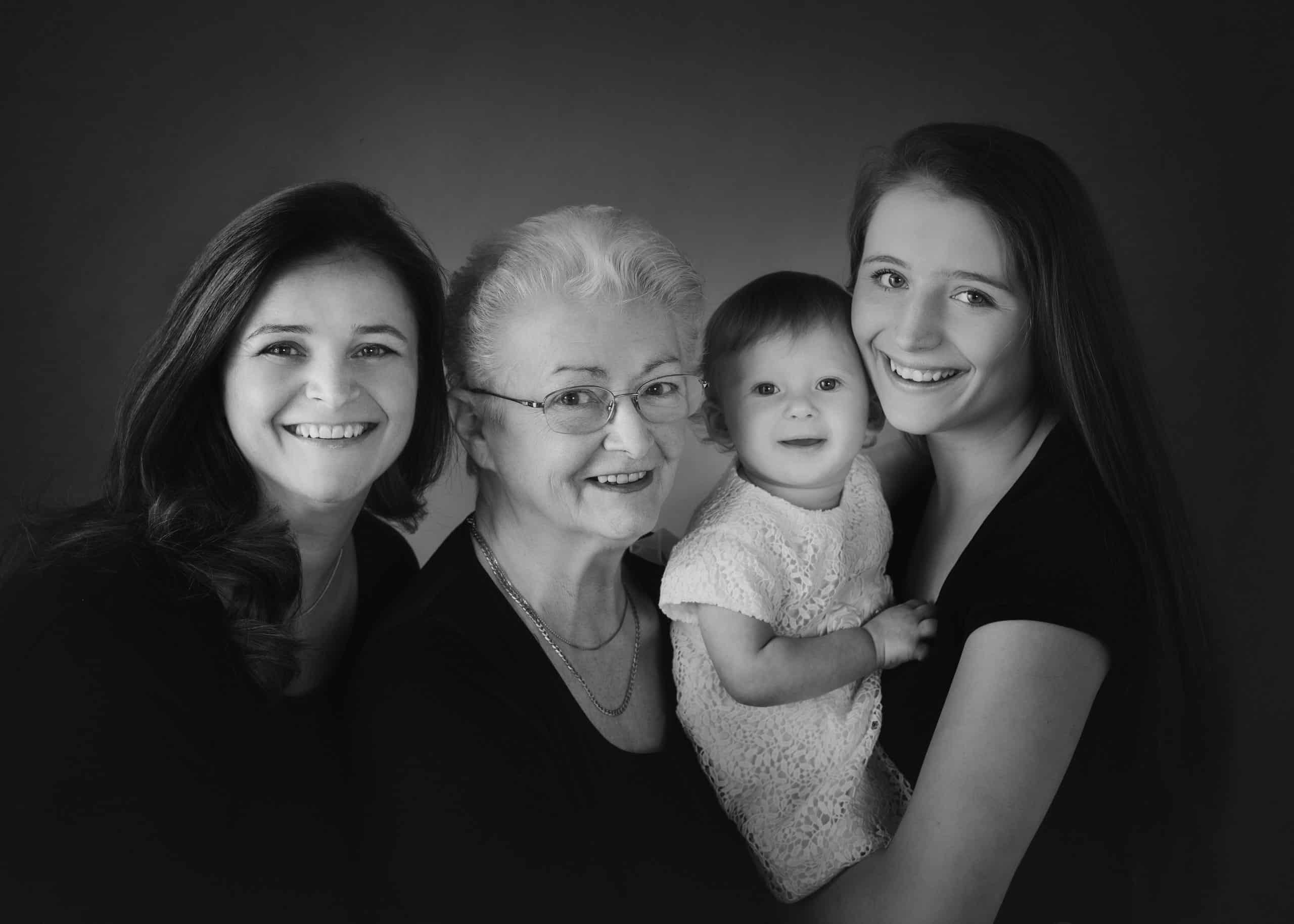generation family baby photographer in Edinburgh