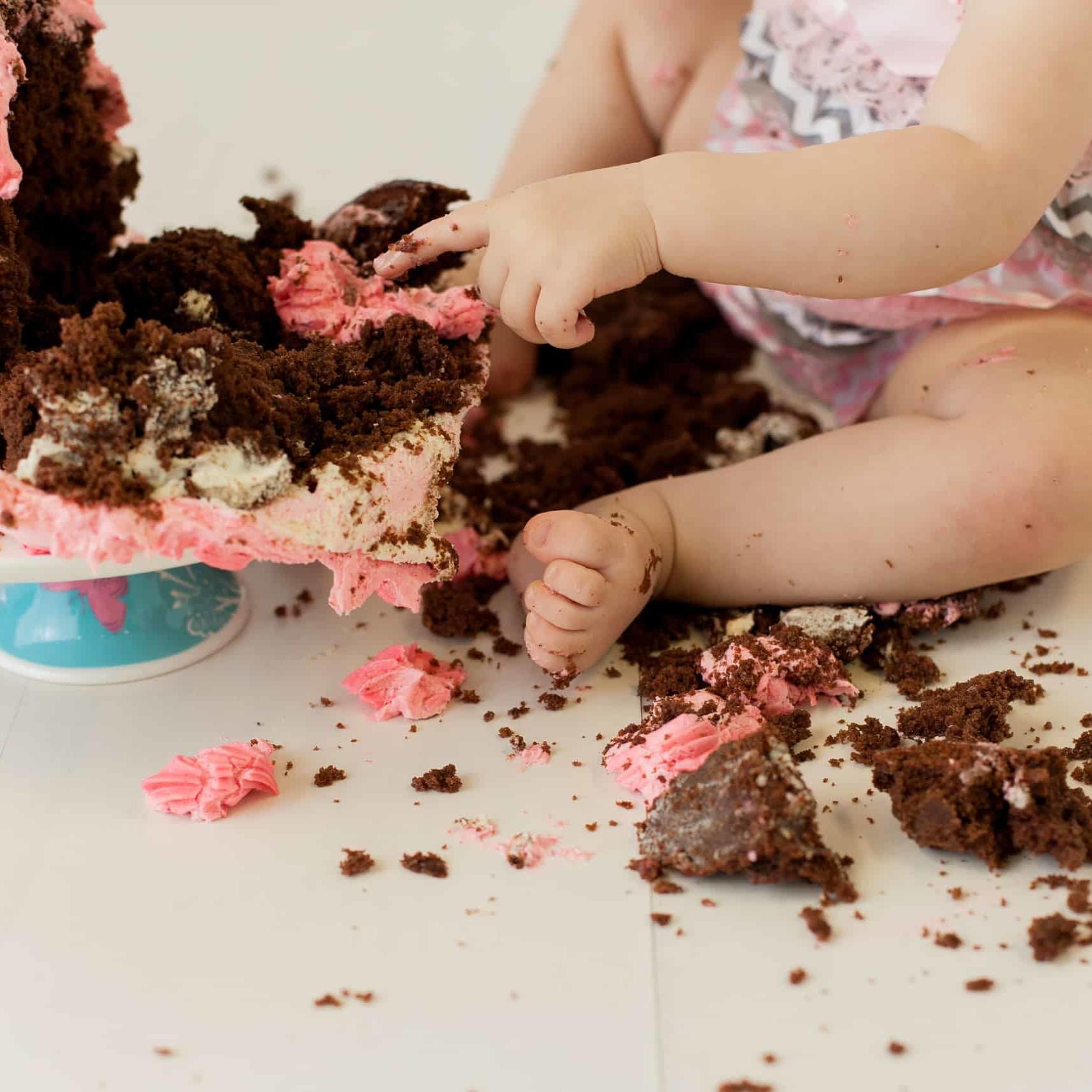 First Birthday Cake Smash Photography | Sophia-Belle 29