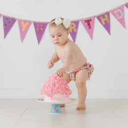 First Birthday Cake Smash Photography | Sophia-Belle 30