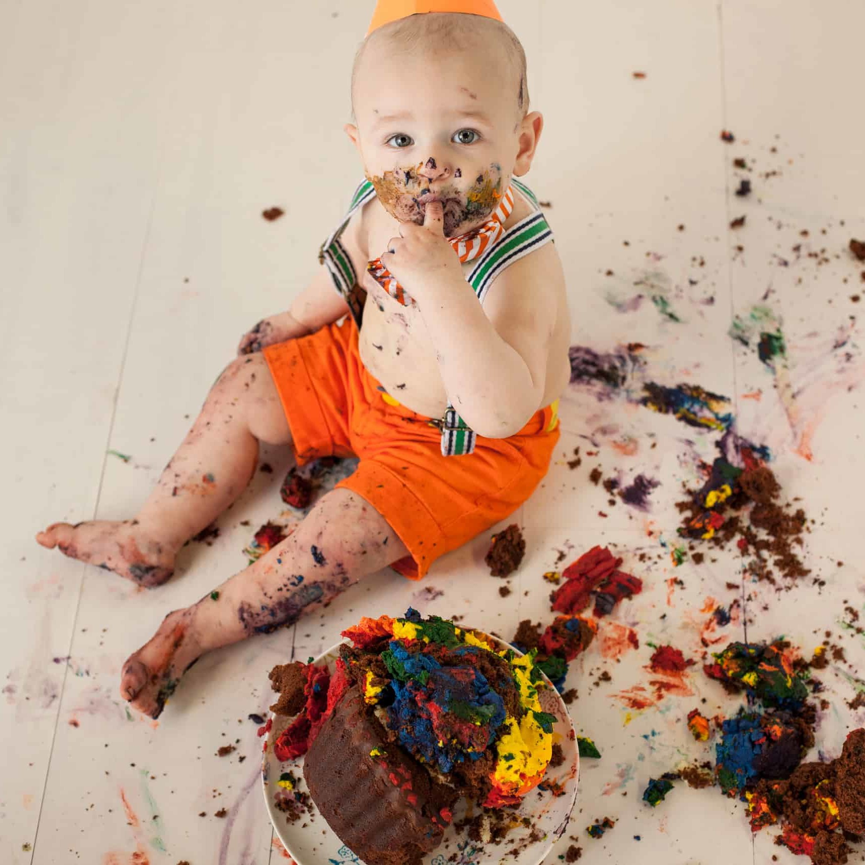 First Birthday Cake Smash Photography | Sophia-Belle 36