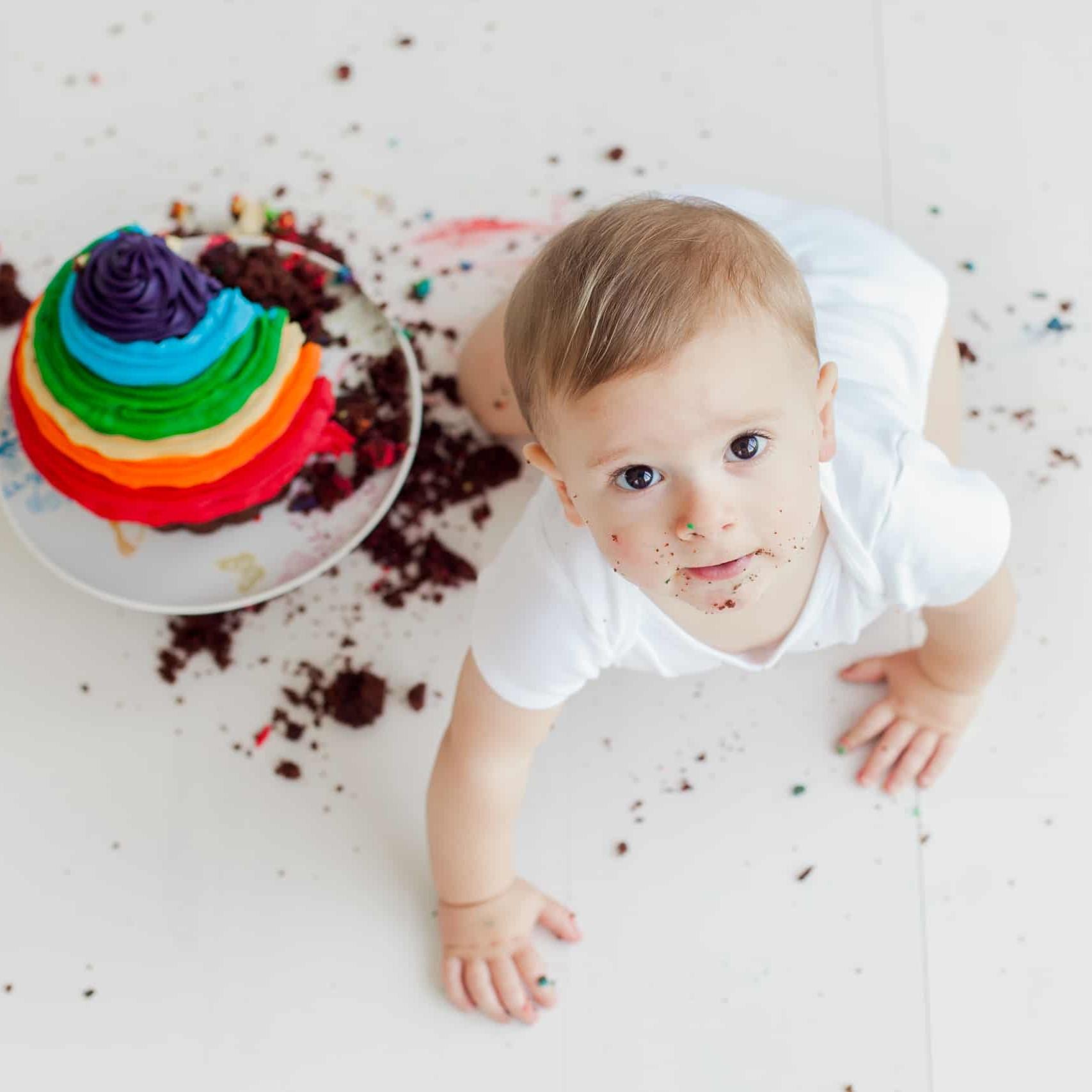 First Birthday Cake Smash Photography | Sophia-Belle 25