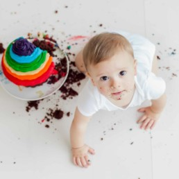 First Birthday Cake Smash Photography | Sophia-Belle 25