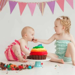 First Birthday Cake Smash Photography | Sophia-Belle 26