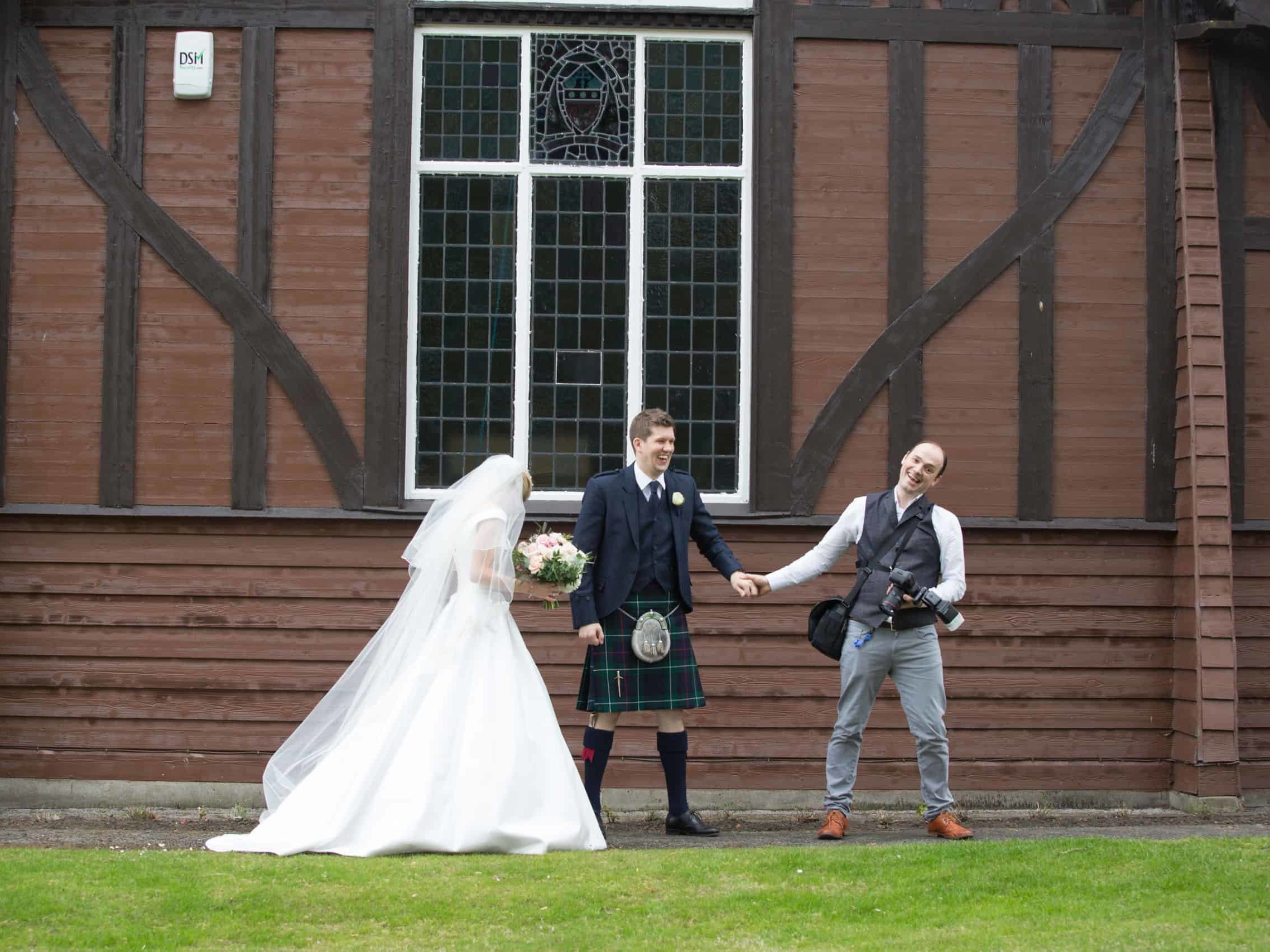 wedding photography in Edinburgh with fun photographer