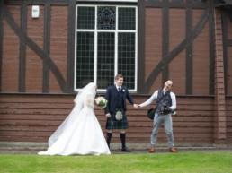 wedding photography in Edinburgh with fun photographer