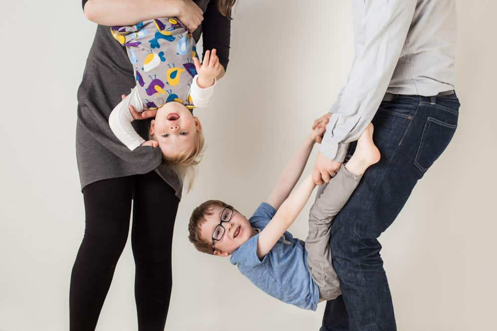 fun and relaxed family photshoot in edinburgh photo studio