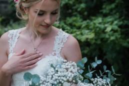 wedding portrait of the bride in Edinburgh