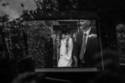 edinburgh bride waiting for dad