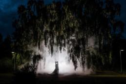 Edinburgh botanical gardens wedding photography ideas with smoke grenades