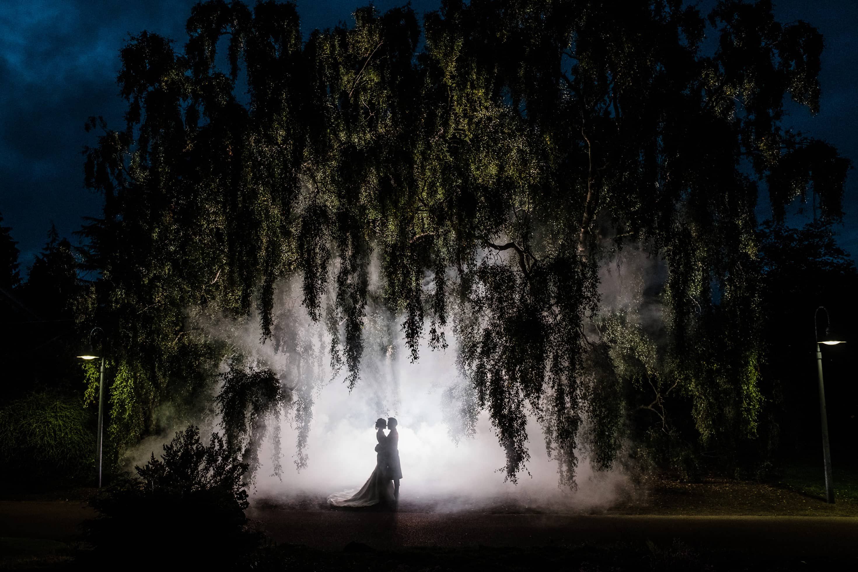 Edinburgh botanical gardens wedding photography ideas with smoke grenades