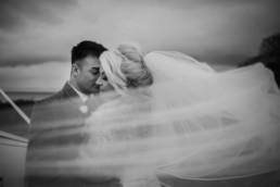 wedding photo on Edinburgh calton hill