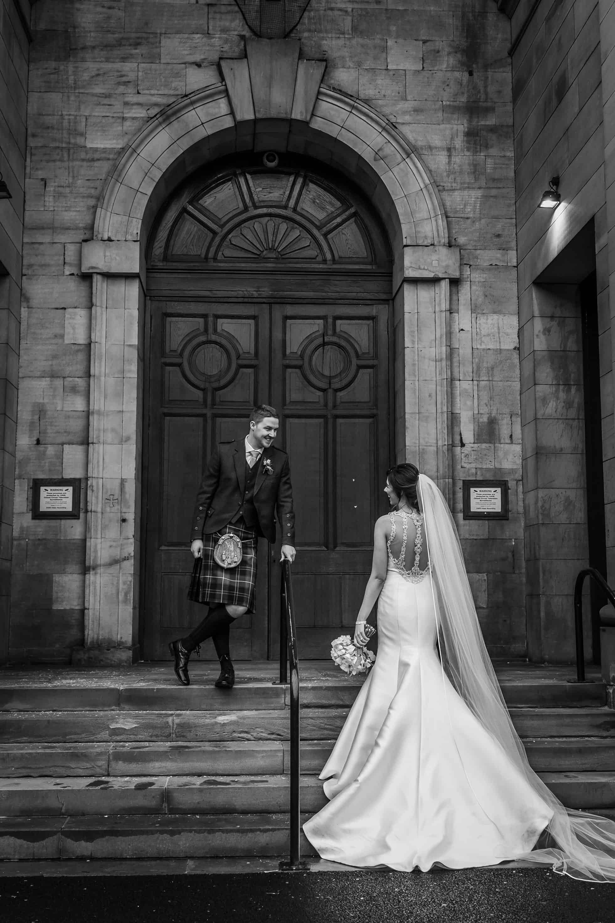 Edinburgh wedding photography bride and groom poses