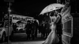 balmoral hotel edinburgh wedding photo winter
