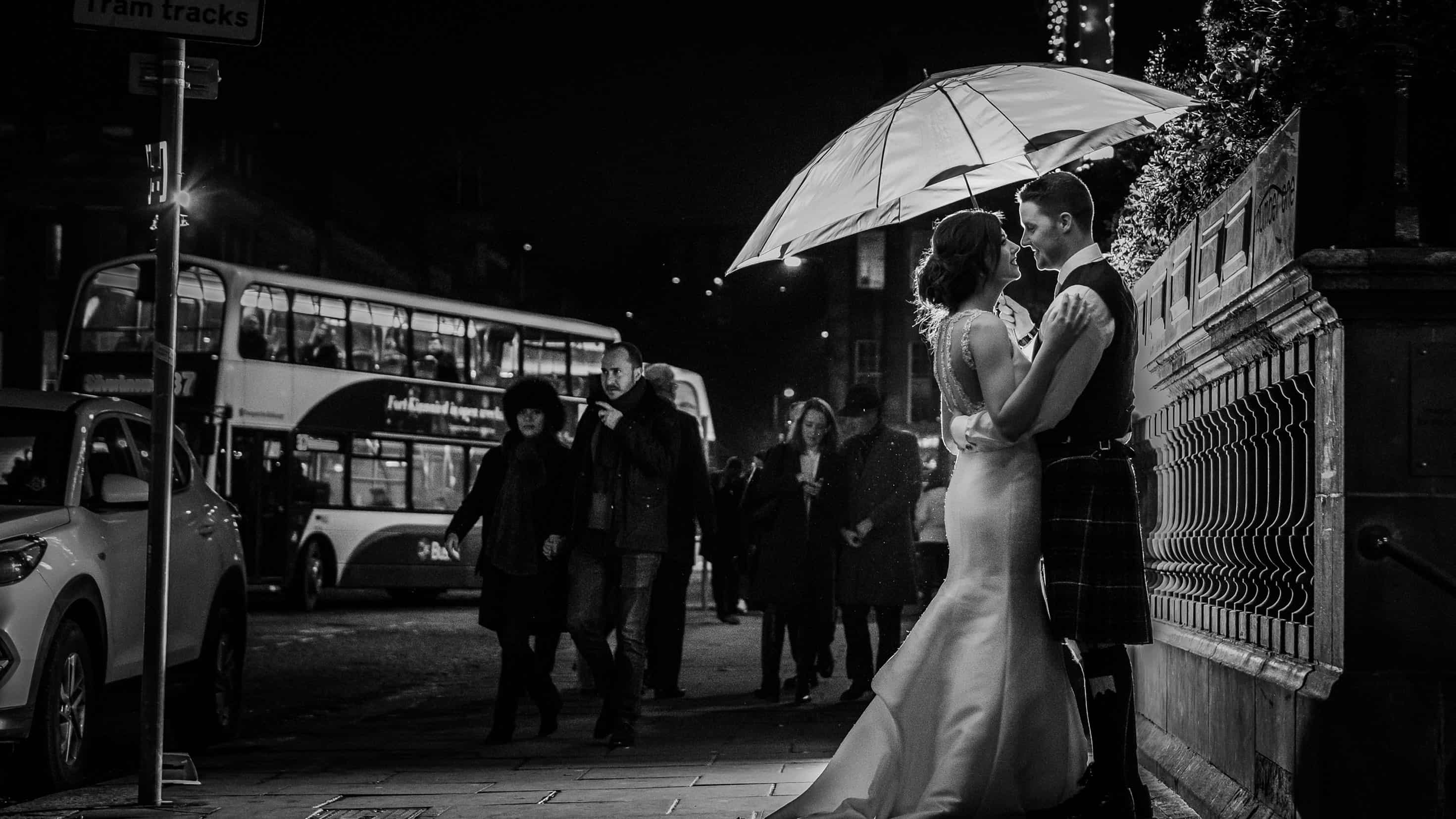 balmoral hotel edinburgh wedding photo winter
