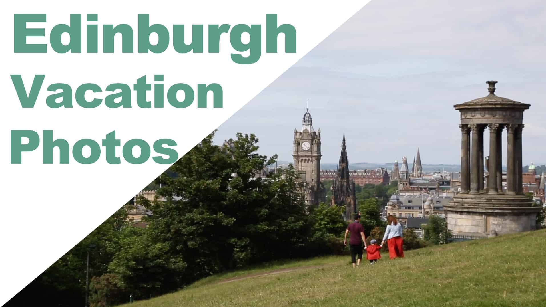 Family vacation in Edinburgh enjoying tourist attractions