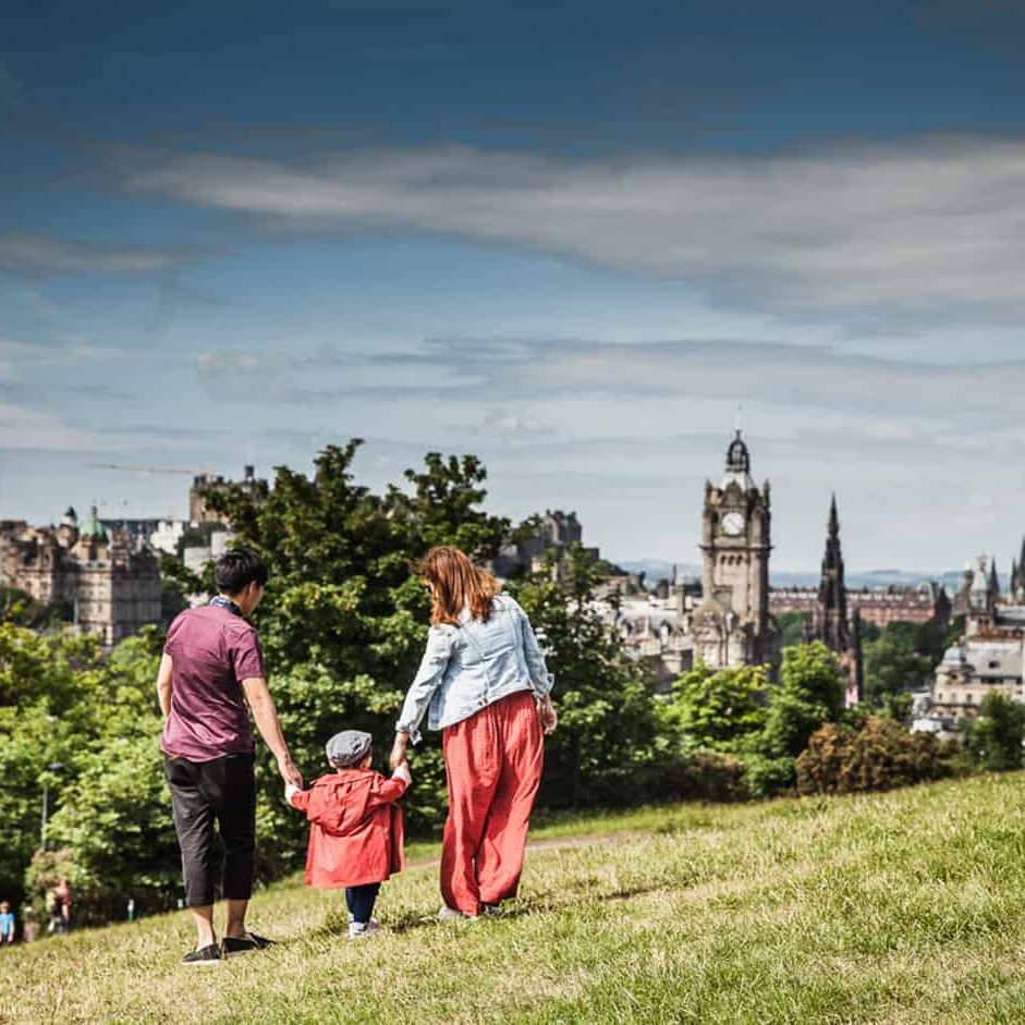 Personal photographer for a day with family in Edinburgh
