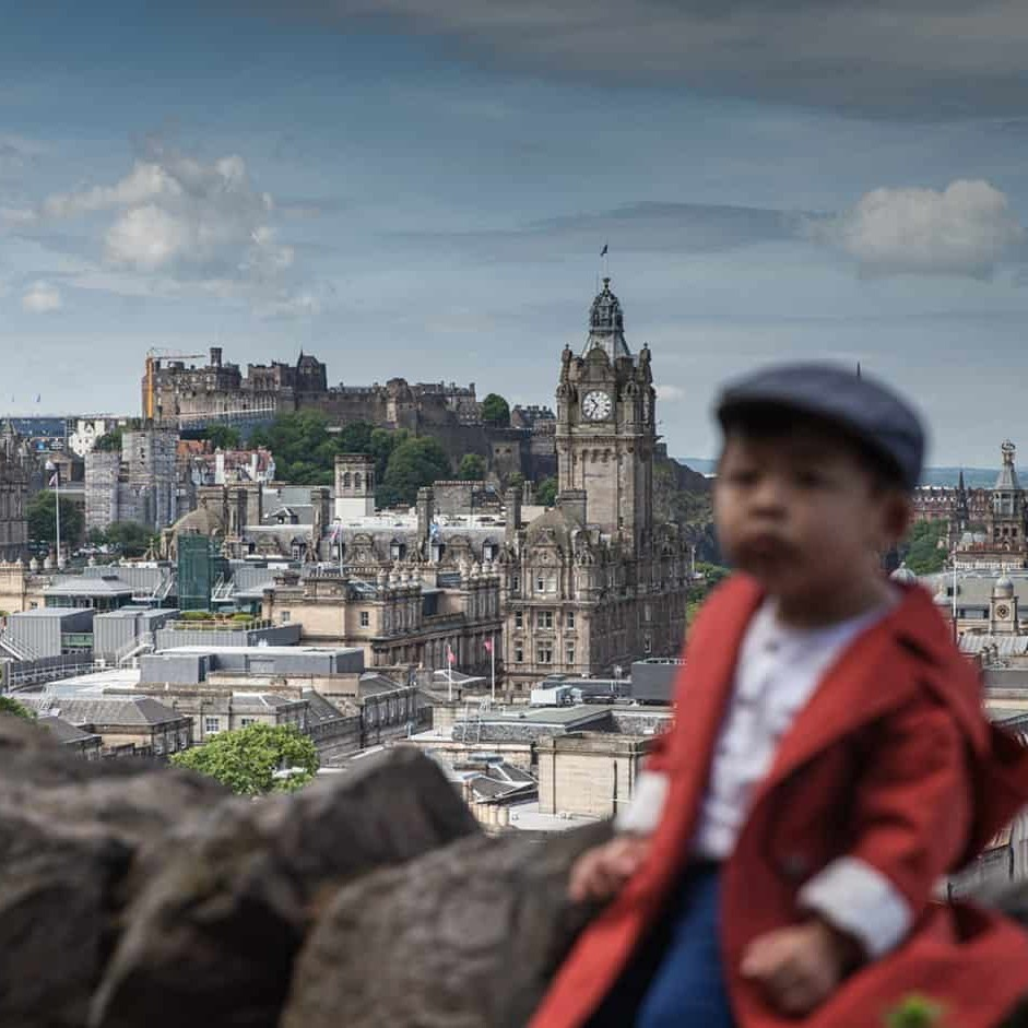 Vacation photography in Edinburgh