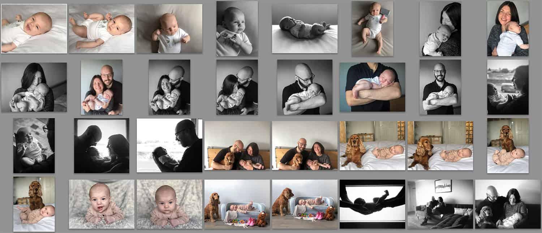 DIY newborn photos at home photoshoot