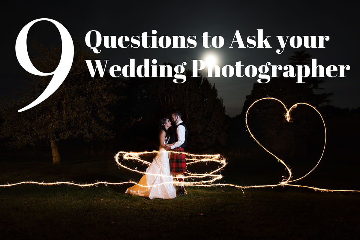 What questions to ask your wedding photographer