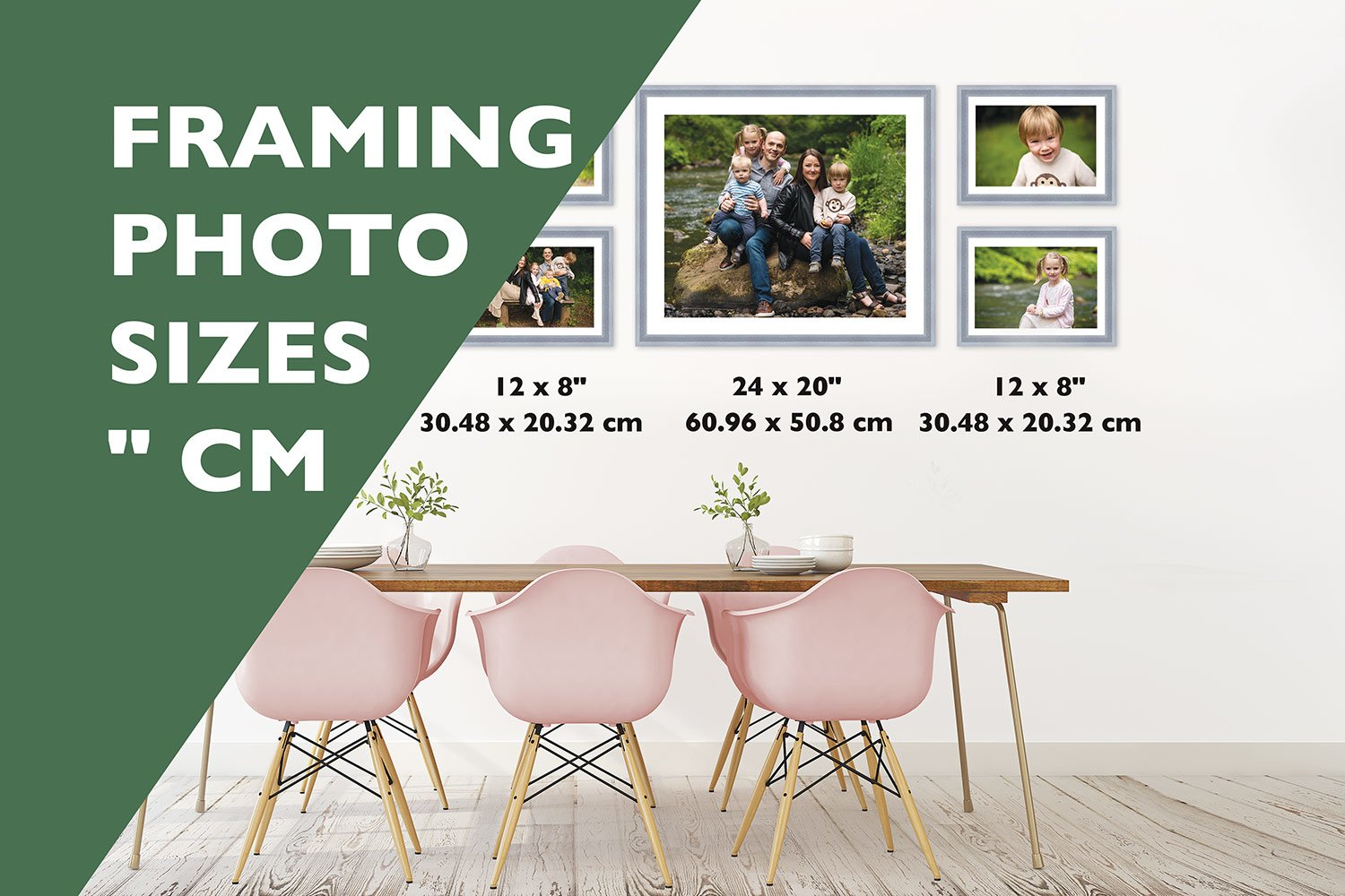 uk frame and photo sizes in inches to cm